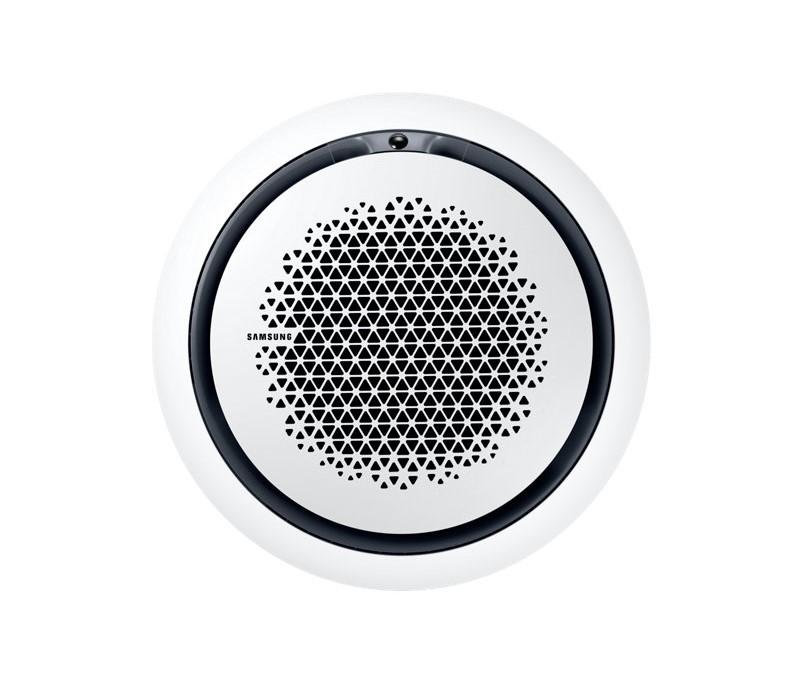 Kazetová klimatizace Samsung 360° AC071MN4PKHEU + AC071MXADKHEU, PC4NUNMAN Bílý kulatý panel (1050x1050x94)