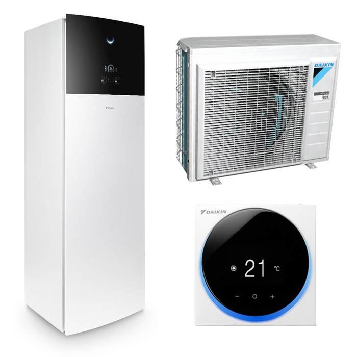 Tepelné čerpadlo Daikin Altherma 3 4kW EHVZ04S18D6V + ERGA04DV - jen vytápění, dvě teplotní zóny, Bílá