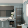 TERMA Bone koupelnový radiátor v interiéru 1510x600 Metallic Stone detail