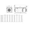 Systemair VBF vodní ohřívač pro kruhové potrubí - rozměry