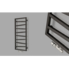 TERMA Zigzag koupelnový radiátor 835x500 barva Gold Gloss detail ovládání