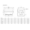 Systemair DVCI S - rozměry
