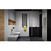 TERMA Zigzag koupelnový radiátor 1070x500 - barva metallic Black Inspirace