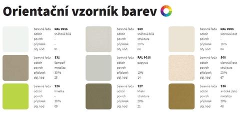 Barvy ISAN - Orientační vzorník barev