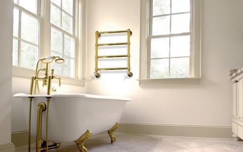 IRSAP Minuette chromový koupelnový radiátor 682x570 barva Zlato