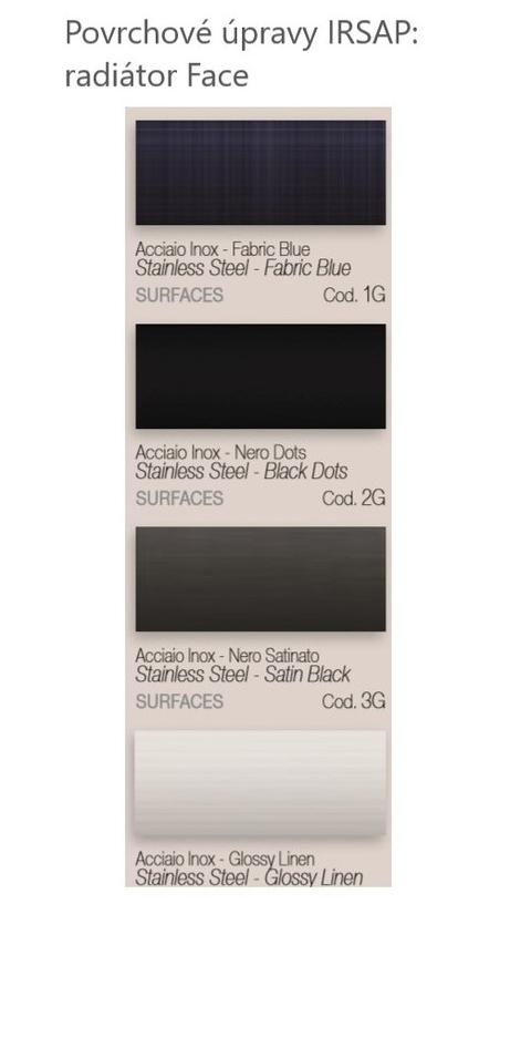 Barvy Irsap - Povrchové úpravy - Face