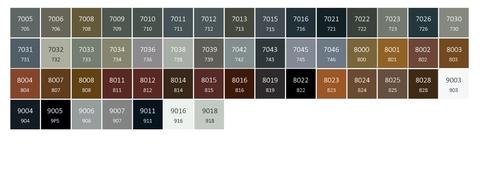 Barvy Terma - barevné provedení RAL - odstíny3