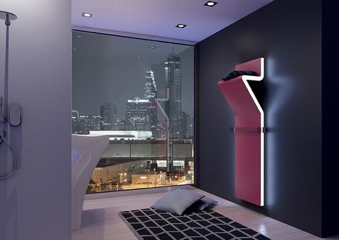 IRSAP Tratto designový radiátor 1600x450 barva Flame Red