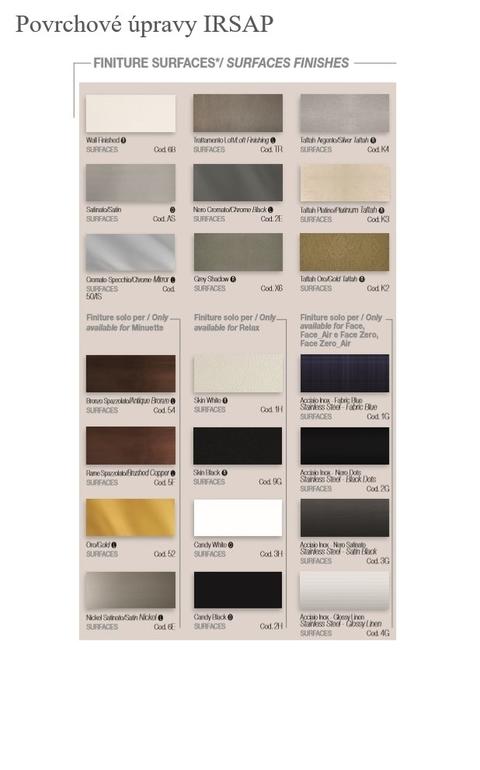 Barvy Irsap - Povrchové úpravy - paleta