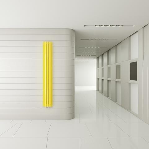 TERMA Triga AN designový radiátor na stěnu - v prostoru