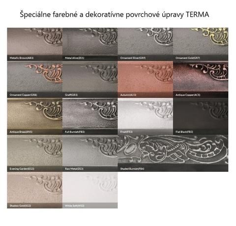 Barvy Terma - liainové radiátory - speciální barevné prevedení - paleta
