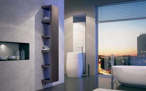 IRSAP Quadraqua designový radiátor 1828x300 L barva Bruno Tobacco