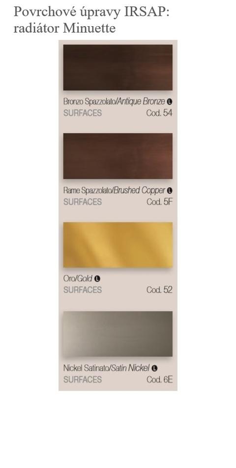 Barvy Irsap - Povrchové úpravy - Minuette