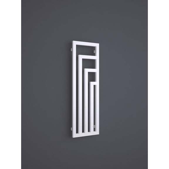 TERMA Angus V designový radiátor barva RAL9016 1140x360