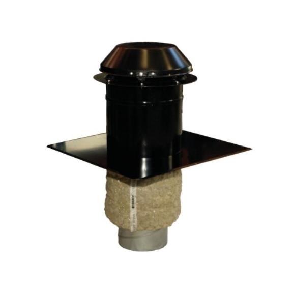 Systemair THS 160 černá profilová krycí hlavice