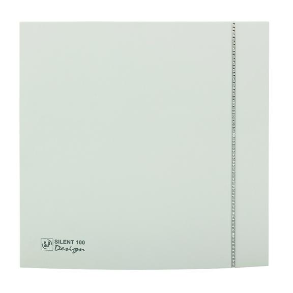Ventilátor Silent 100 Design CZ SWAROVSKI bílý
