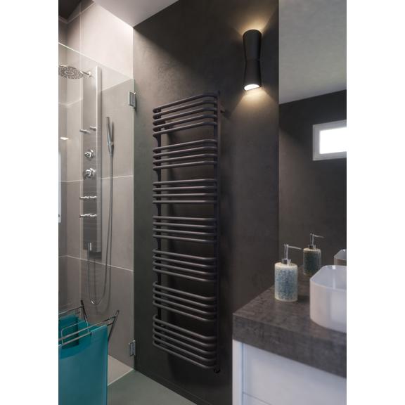 TERMA Alex ONE designový radiátor 1140x600 barva Modern Grey inspirace - koupelna