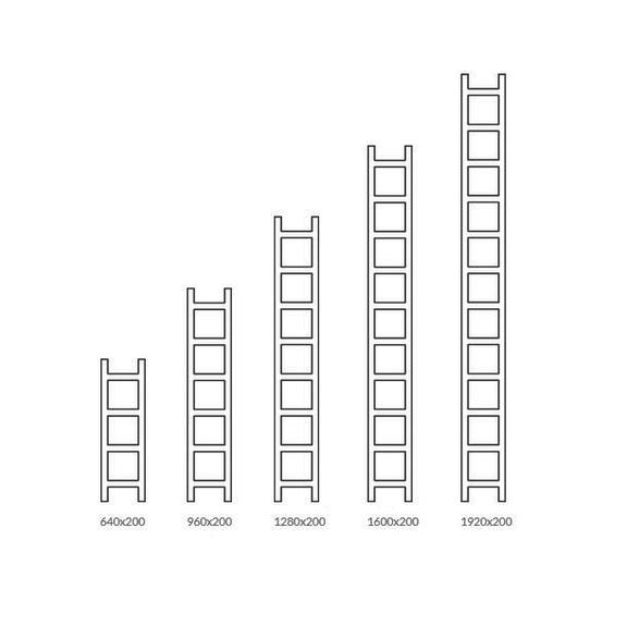 TERMA Easy vertikální designový radiátor - velikosti