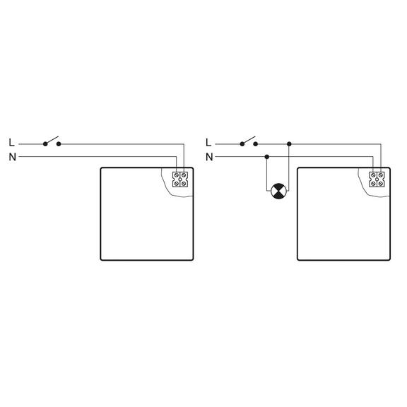 Ventilátor Silent 100 Design CZ bílý - schéma zapojení