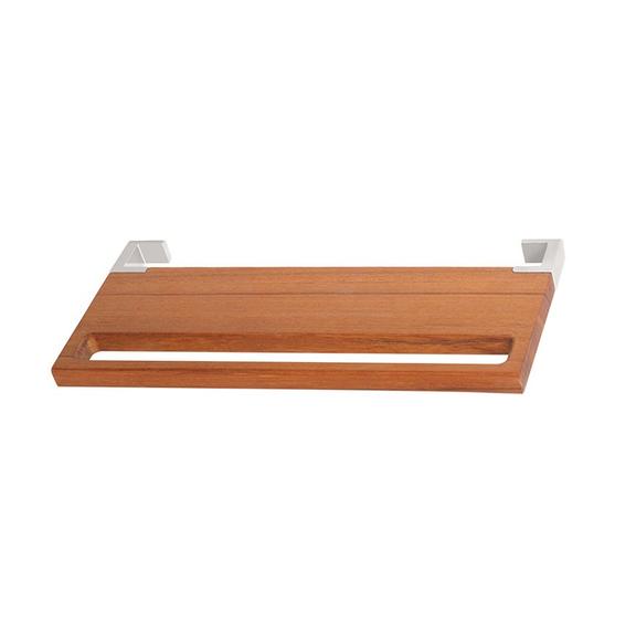 Dřevěná polička s držákem Triga 38 cm