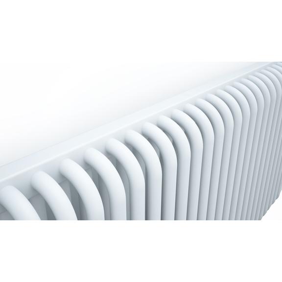 TERMA Delfin designový radiátor podhledů detail