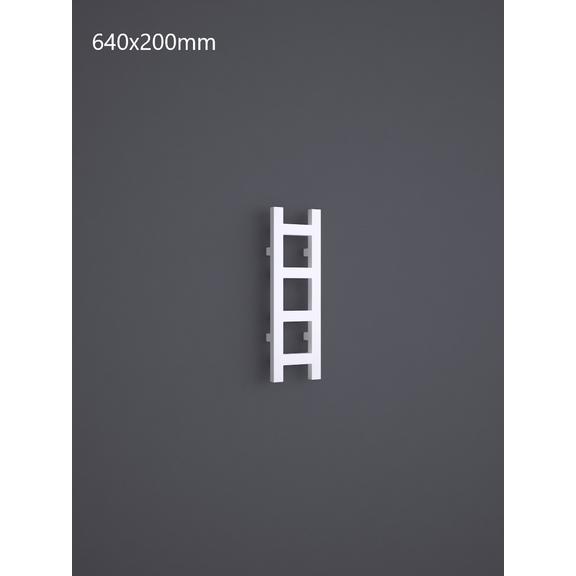 TERMA Easy vertikální designový radiátor RAL9016 - 640x200