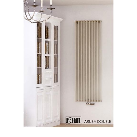 ISAN Aruba Double vertikální radiátor - RAL 9001