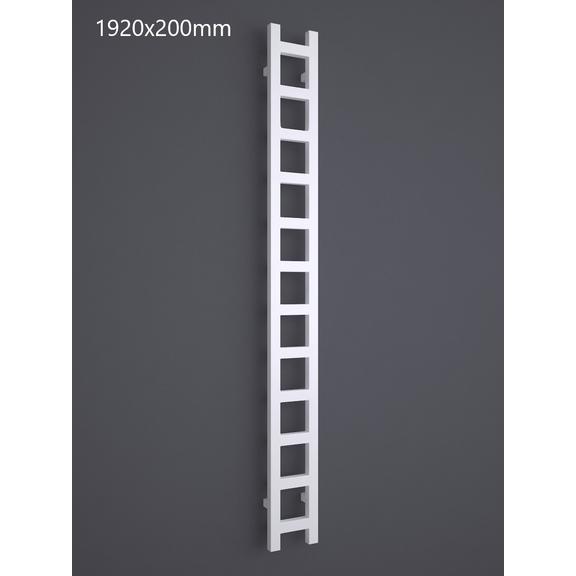 TERMA Easy One vertikální radiátor 1920x200 RAL 9016