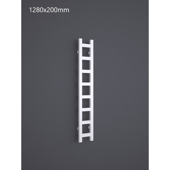 TERMA Easy One vertikální radiátor 1280x200 RAL 9016