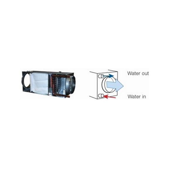 Systemair VBF vodní ohřívač pro kruhové potrubí
