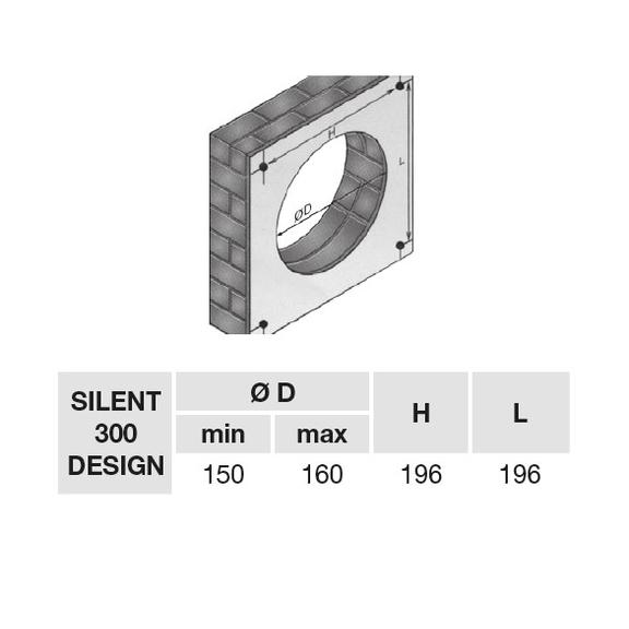 Ventilátor Silent 300 Design CZ - montážní otvor