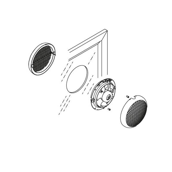 Okenní ventilátor HCM 150 - ukázka montáže