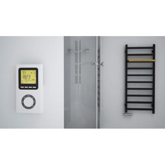 TERMA Simple designový radiátor barva Heban - inspirace