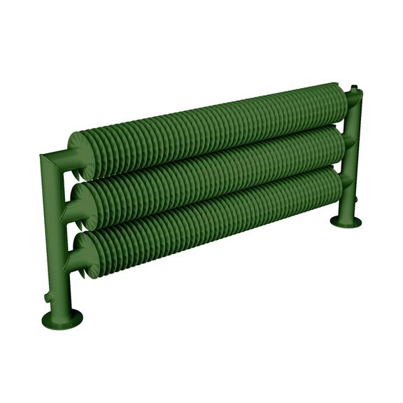 ISAN Spiral RAT3-S samostojný radiátor - RAL 6010