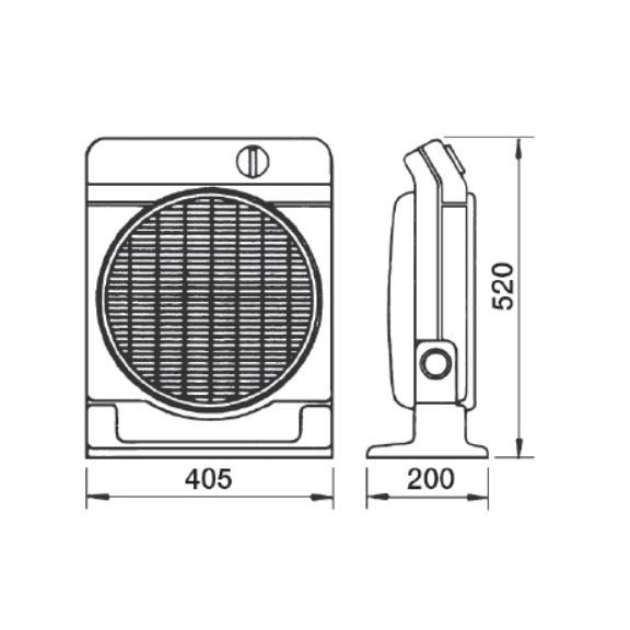 Soler & Palau Meteor NT axiální stolní ventilátor - rozměry