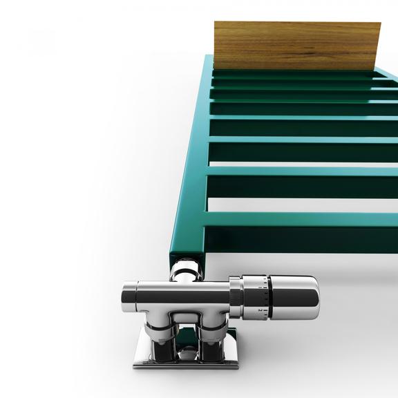 TERMA Simple designový radiátor 1080x500 Detail - barevné věšáky