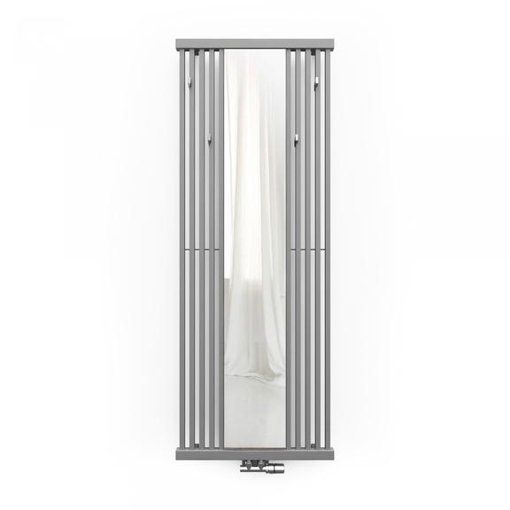 TERMA Intra M radiátor se zrcadlem barva Metallic Stone