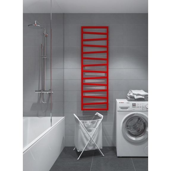 TERMA Zigzag koupelnový radiátor 1070x500 barva Metallic Stone interiér