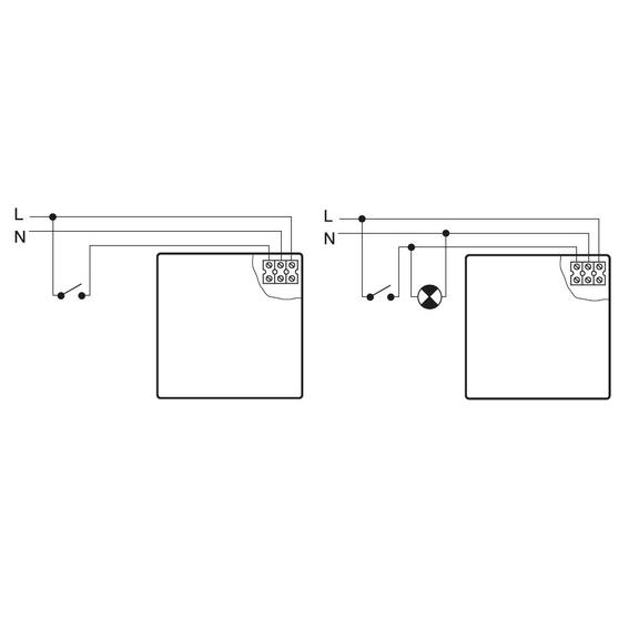 Ventilátor Silent 100 Design CHZ - schéma zapojení