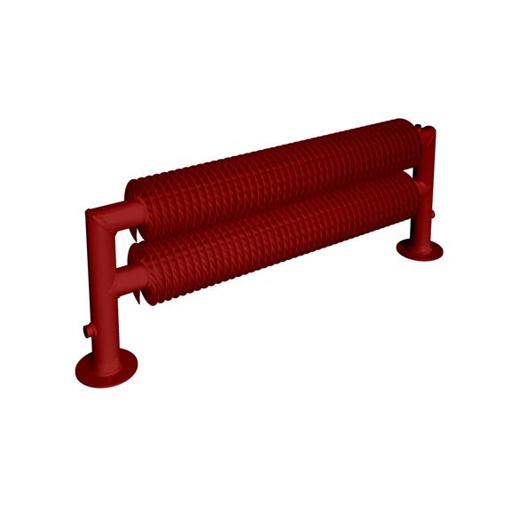 ISAN Spiral RAT2-S samostojný radiátor - RAL 3002