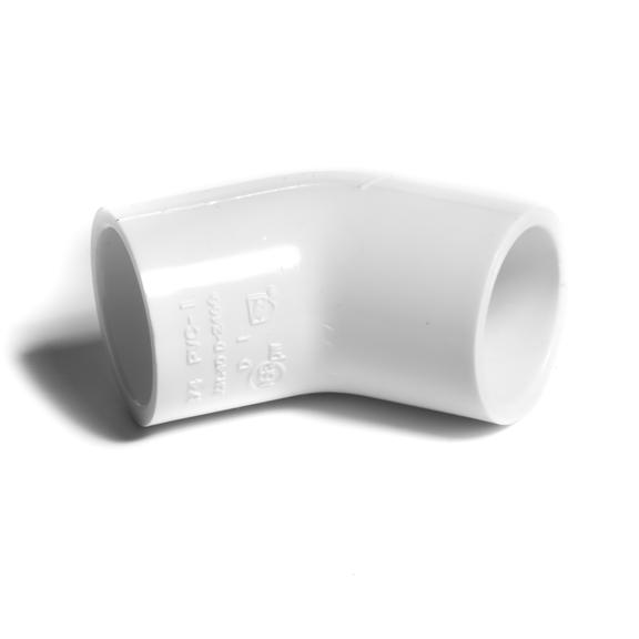 """NIBCO koleno 45° 1/2"""" PVC-U PN15"""
