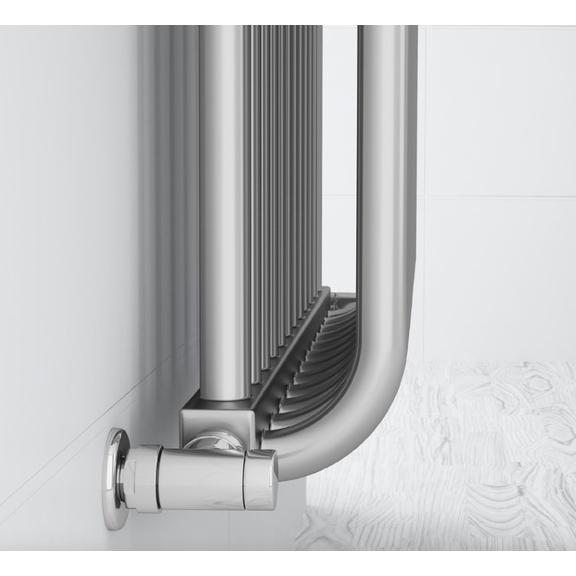 TERMA Delfin designový radiátor pod okno barva Chrome effect detail2